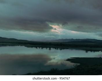 Lake Lahonton stormy