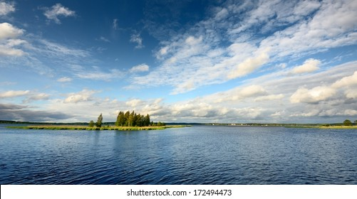 lake landscape in summer