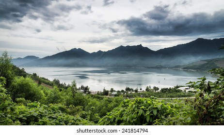 Lake at Lang Co resort, a township in Phu Loc District, Thua Thien�Hue Province, Vietnam