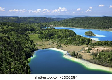 lake Le Grand Maclu, Jura, France