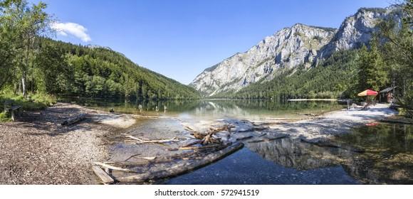 Lake Leopoldsteiner near Eisenerz in Styria, Austria