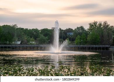 Lake Lily in Maitland, a suburb of Orlando, Florida