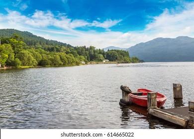 Lake Loch Lomond in a beautiful summer day, Scotland, United Kingdom
