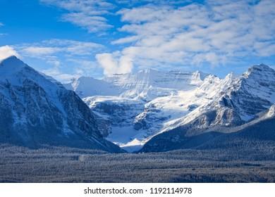 Lake louise in Banff National Park, Alberta, Canada in Winter