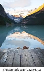 Lake Louise at dawn in Banff National Park, Canada