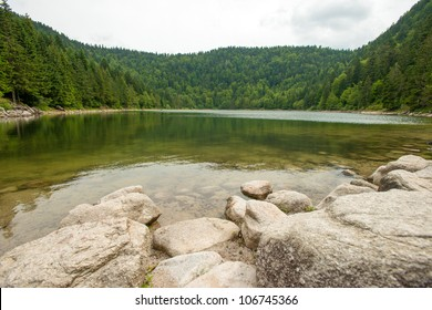 Lake in the lower mountains of Vosges