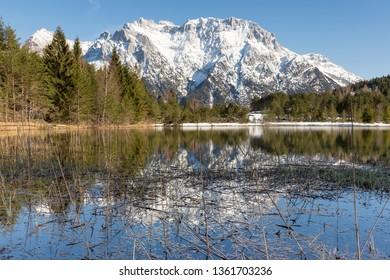 Lake Luttensee in Bavaria, Germany, in spring