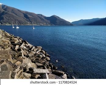 Lake Maggiore in Ascona (Ticino canton) - Switzerland