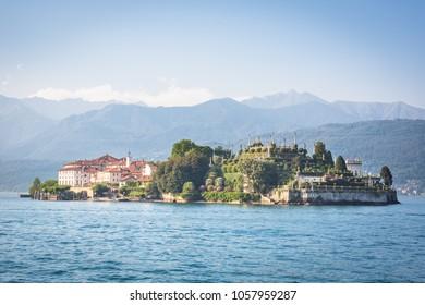 Lake Maggiore and Island Bella; at Stresa, north Italy