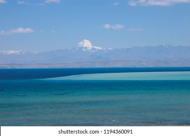 Lake Manasarovar is a high altitude freshwater lake fed by the Kailash Glaciers near Mount Kailash in the Tibet