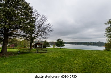 Lake Marburg in Codorus State park in Hanover, Pennsylvania