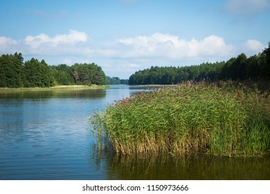 Wydmińskie Lake in Masuria Lakeland region of Poland, Wydminy.
