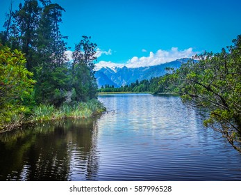 Lake of Matheson view, New Zealand