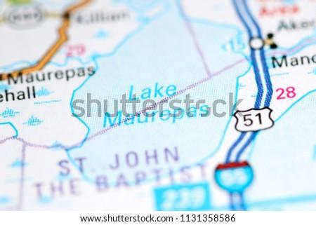 Lake Maurepas Louisiana Usa On Map Stock Photo Edit Now 1131358586