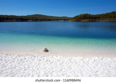 Lake McKenzie, a freshwater lake on Fraser Island, Queensland, Australia