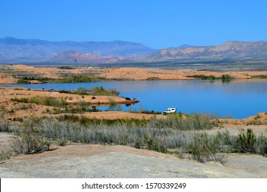 Lake Mead Clark County Nevada USA October 5th, 2017. Sunday Afternoon Camping And Fishing At Lake Mead Clark County Nevada.