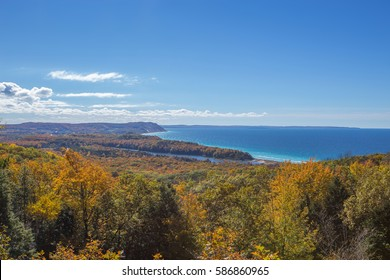 Lake Michigan coastline near Empire, Michigan. Sleeping Bear Dunes National Lakeshore