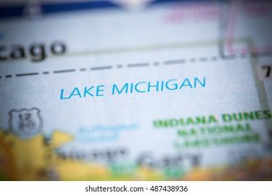 Lake Michigan. Indiana. USA