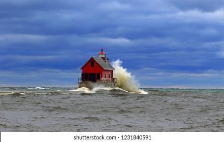 Lake Michigan light house.