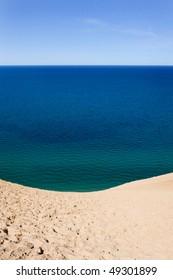 Lake Michigan as seen from the bluff at Sleeping Bear Dunes National Lakeshore