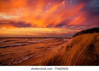 Lake Michigan Sunset Frankfort Michigan
