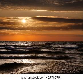Lake Michigan Sunset, Grand Haven, Michigan