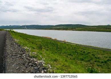 Lake Milada near Usti nad Labem in the Czech Republic