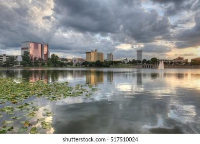 Lake Mirror in Lakeland, Florida
