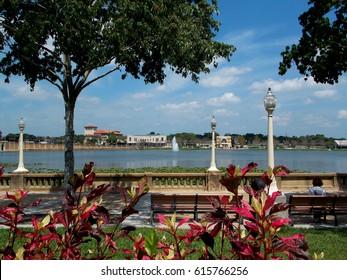 Lake Mirror in Lakeland, Florida.