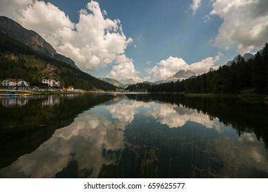 Lake Misurina and the Three Peaks of Lavaredo, Cadore, Belluno, Veneto, Italy