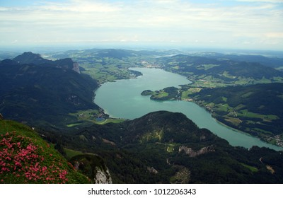 lake Mondsee from the Schafberg