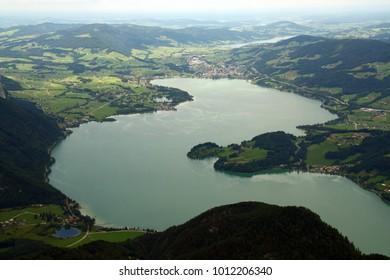 lake Mondsee from the Schaffberg