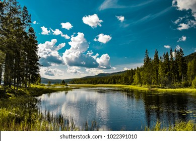 Lake in Mora -Sweden-Europe. Nice background Desktop