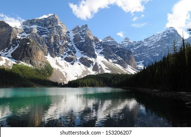 Lake Moraine and the Valley of the Ten Peaks, Banff National Park, Alberta, Canada