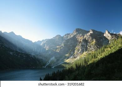 """Lake """"Morskie Oko"""" in the Tatra Mountains."""