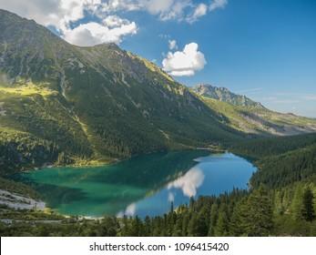 Lake Morskie Oko in Tatras, Zakopane, Poland