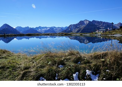 Lake at a mountain in Austria in Zillertal