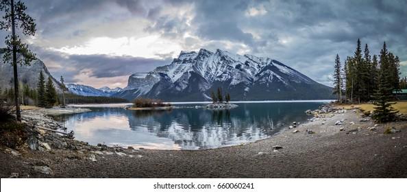 Lake and Mountain Panorama