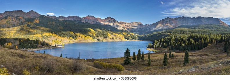 Lake and mountains of Colorado