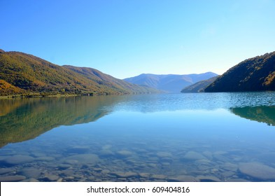 Lake in the mountains of Georgia