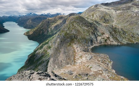 Lake and Mountains in Jotunheimen National Park Norway