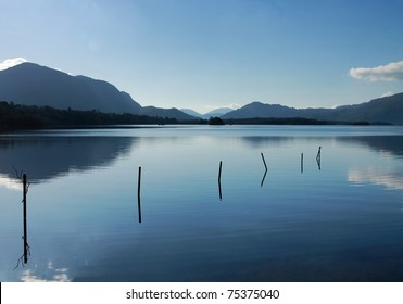 Lake with mountains in Killarney, Ireland