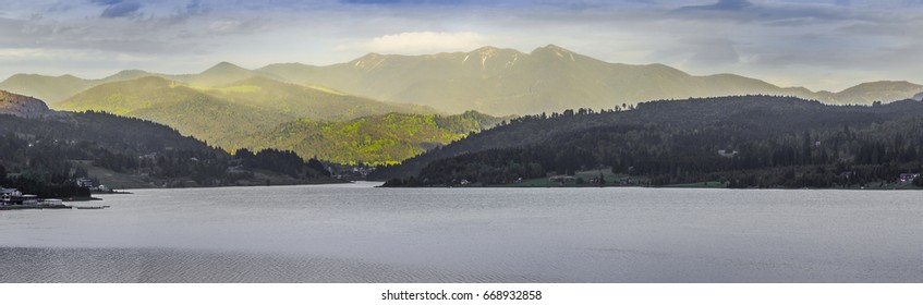 Lake in the mountains panorama