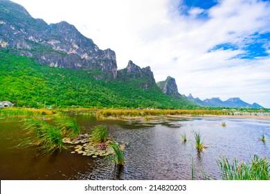 lake and moutian , Samroiyod national park, thailand