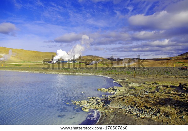 Lake at Myvatn, Iceland
