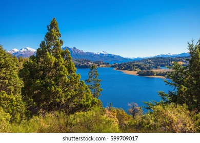 Lake in Nahuel Huapi National Park. It is located near the Bariloche city, Patagonia region in Argentina.