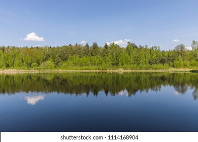 "Lake in the national reserve ""Belovezhskaya Pushcha"", Belarus"