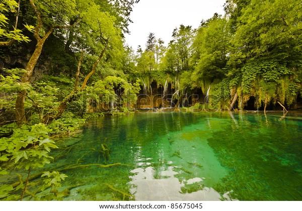 lake nature park in Croatia