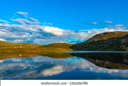 A lake near Nordkapp, Norway