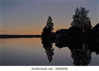 A lake near Oulu during early fall